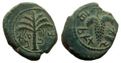Ancient Coins - Judaea. Bar Kochba Revolt. Year 3 (Simon). AE 22 mm. Sharp details.