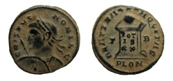Ancient Coins - Crispus, 316-326 AD. AE 19 mm., Follis. Londinium mint.