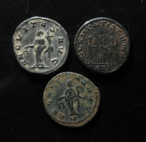 Ancient Coins - Lot of 3  Silvered antoninianus ,  full silvering and centering!!!