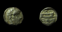 Ancient Coins - Aradus, Phoenicia, 400 - 350 B.C.  Silver obol, Crude style of head!