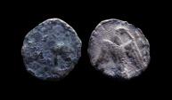 Ancient Coins - Judaea. Persian Period. Circa 375-333 BC. Silver Hemiobol.