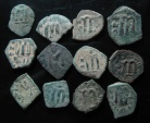 Ancient Coins - LOT OF 12 BYZANTINE BRONZE COINS