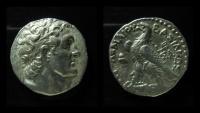 Ancient Coins - Ptolemaic Kingdom, Ptolemy VI, Silver tetradrachm. 204 - 181 B.C. Cyprus, Salamis mint. Superb portrait. Ex-Rare.