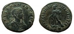 Ancient Coins - Crispus. Caesar, 316-326 AD. AE Follis. Aquileia mint.
