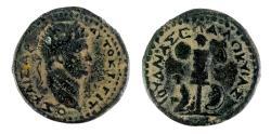 Ancient Coins - Judaea Capta. Titus. AD 79-81. AE 25 mm. Caesarea Maritima mint. Full legend. One of best known!