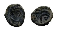 Ancient Coins - Vandals, uncertain ruler and emperor, AE 10 mm. Circa 430-490 AD.