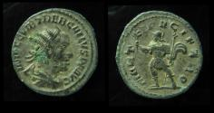 Ancient Coins - TREBONIANUS GALLUS, 251 - 253 AD.  MARTI PACIFERO. Antioch Mint. Great Green Patina on Silver Wash