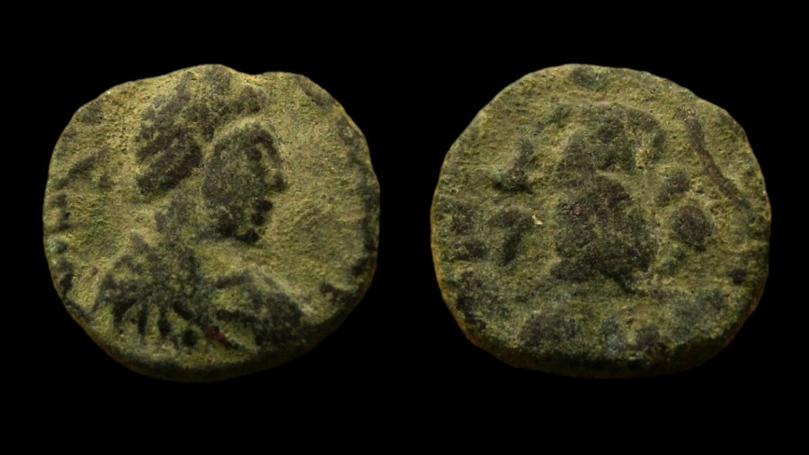 Ancient Coins - Johannes, 423-425 AD. AE 12 mm.