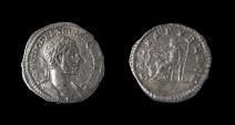 Ancient Coins - Macrinus. AD 217-218. AR Denarius (21mm, 2.1 g). Rome mint, 4th officina. 1st emission, May 217