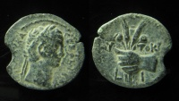 Ancient Coins - Claudius AE Obol of Alexandria. Year 10 = 49/50 AD.