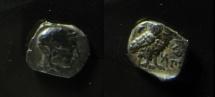 PHILISTIA. Gaza. 4th century B.C. Silver Obol. Imitating Athens. RARE!