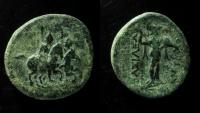 Ancient Coins - Seleukid Kingdom, Antiochos II Theos, 261 - 246 B.C AE 22 mm.
