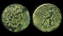 Ancient Coins - Seleukid Kingdom, Demetrios II, (145 - 138 B.C.) AE 23 mm. Antioch mint.
