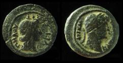 Ancient Coins - EGYPT, Alexandria. Pelusium Nome. Hadrian. 117-138 AD. Æ Obol, Rare, the Southernmost Palestinian City!!!