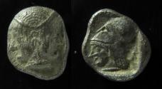 Ancient Coins - Lampsakos, Mysia. Silver Diobol 500-450 BC. (1.1gm)