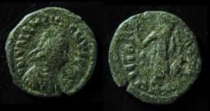 Ancient Coins - Valentinian III, AE4, 13mm, 425-455 AD; Rome. Full legend on Reverse!!!! Very Rare