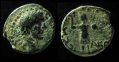 Ancient Coins - Hadrian AE19mm of Ascalon in Judaea.