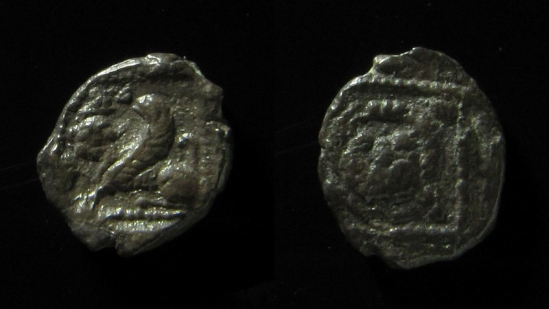 Ancient Coins - Samaria, Silver Obol,  mid-fourth century BC, Silver  0.6 gm, Very Rare!
