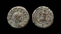 Ancient Coins - Egypt, Alexandria. Maximianus Herculeus, Potin tetradrachm. Year 7.