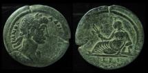 Ancient Coins - Egypt, Alexandria. Hadrian. AE Drachm. 37 mm, 23 g.