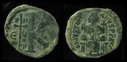 Ancient Coins - Justinian I. 527-565. Æ Half Follis, 24mm, Theoupolis (Antioch) mint. Rare!