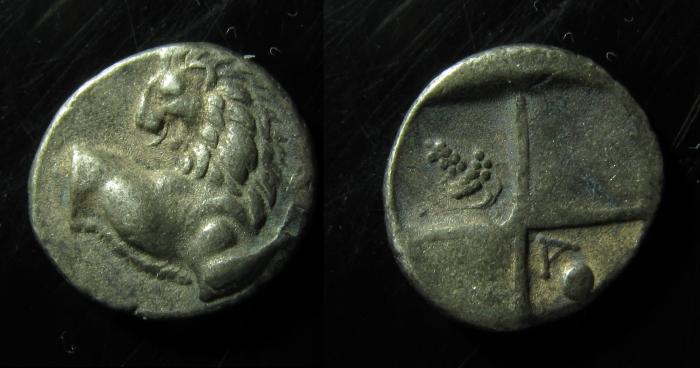 Ancient Coins - Chersonese, Thrace, Silver hemidrachm. VF!