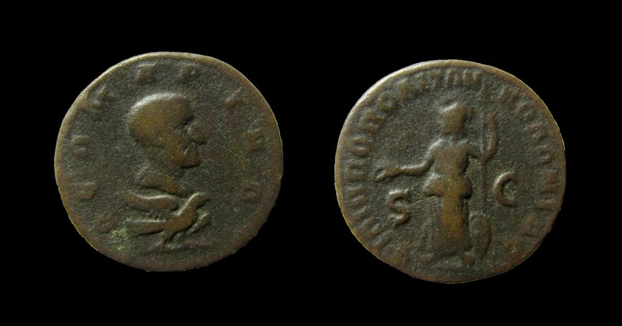 Ancient Coins - Arabia, Philippopolis. Divus Julius Marinus. AE 24 mm.