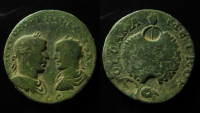 Ancient Coins - Syria, Damascus. Philip I and Philip II. AE 28 mm. Ex Rare!