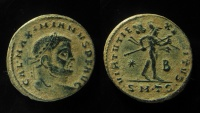 Ancient Coins - Galerius AE Follis. 308-310 AD. Thessalonica mint