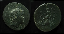 Ancient Coins - Seleukid Kingdom, Antiochos III AE 30 mm. Ex-Rare!