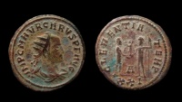 Ancient Coins - Carus, 282-283 AD. AE Antoninianus, 21 mm. Cyzicus mint.