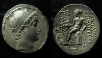 Ancient Coins - Seleucid Kingdom, Demetrios II Nikator. First reign, 146-138 BC. AR Tetradrachm.  Antioch mint.