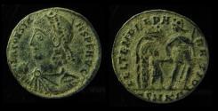 Ancient Coins - CONSTANS, 337-350 AD. HEAD LEFT.  CYZICUS MINT