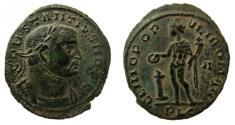 Ancient Coins - Constantius I, as Caesar, 293-305 AD. AE Follis. Lugdunum mint.