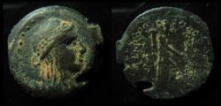 Ancient Coins - SELEUKID, Antiochus VII. 138-129 BC. Apollo.  Mint of Gaza