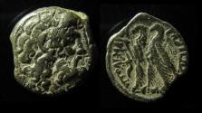 Ancient Coins - PTOLEMAIC KINGDOM, PTOLEMY VI. 180-164 BC. TWO EAGLES, CORNUCOPIA