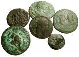 Ancient Coins - SIX ROMAN PROVINCIAL COINS