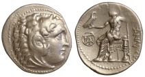 Ancient Coins - ALEXANDER III (THE GREAT), POSTHUMOUS ISSUE c.295-275 BC, DRACHM, MILETUS MINT, PRICE 2148