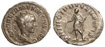 Ancient Coins - HERENNIUS ETRUSCUS CAESAR, ANTONINIANUS, ROME MINT, ETRUSCUS STANDING LEFT, RIC 147c