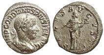 Ancient Coins - GORDIAN III, DENARIUS, ROME MINT, SALVS AVGVSTI, RIC 129a