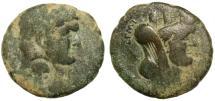 Ancient Coins - DOMITIAN, PHILADELPHIA MINT, HERAKLES COUNTERMARK