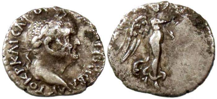 Ancient Coins - VESPASIAN, CAESAREA IN CAPPADOCIA, HEMIDRACHM, BMC 17