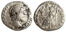 Ancient Coins - CLODIUS ALBINUS, DENARIUS, ROME MINT, ROMAE AETERNAE, ROMA SEATED LEFT, RIC 11b
