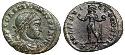 Ancient Coins - Constantine I SOL from Arles with captive in exergue