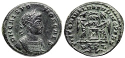 Ancient Coins - Crispus VLPP from Lyons...two captives in exergue