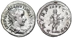 Ancient Coins - Gordian III P M TR P IIII COS II P P; Gordian in military dress from Rome