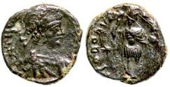 Ancient Coins - Theodosius II  GLOR ORVIS TERRAR  very rare type