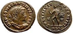 Ancient Coins - Constantine I Sol with whip from Lyons