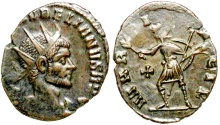 Ancient Coins - Aurelian MARTI PACIF from Rome