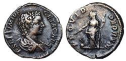 Ancient Coins - Geta PROVID DEORVM limes denarius